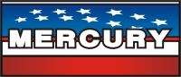 Mercury outboard decal American Flag