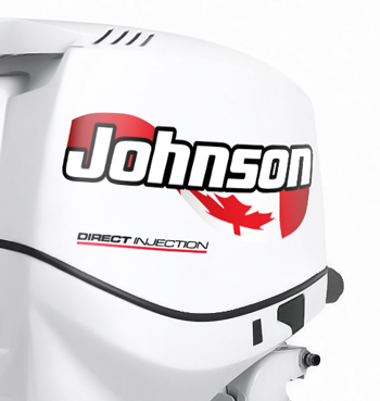 JOHNSON Outboard Decals Canada Flag Decal Set MercuryDecalscom - Decals for boats canada