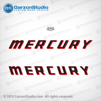 MERCURY 100 150 200 hp 100hp 150hp 200hp 1960 choke decal set