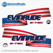 evinrude etec stars and stripes decals for white H.O. engines