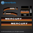 1984 1985 Mercury 150 hp decal set