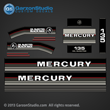 Mercury 20 hp decals 1986 1987 1988