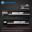 Mercury 20 hp decals 1986