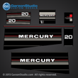 Mercury 20 hp decals 1987 1988 20hp