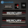 Mercury 15 hp decals 1989 1990 1991 decal set merc