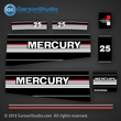 Mercury 25 hp decals 1989 1990 1991