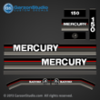 MERCURY 150 hp 1991 1992 1993 decal set 813220A89 DECAL SET (BLACK 135/150/175)