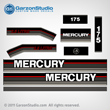 Mercury 175 hp decals 1992-1994