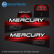 1994 1995 1996 1996 1997 1998 MERCURY 6 hp 6.0 6hp decal set 808522A96 DECAL SET (BLACK 6) DESIGN II