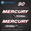 2006 2007 2008 2009 2010 2011 2012 Mercury 90 hp 90hp 90elpto optimac direct Injection DFI decal set decals sticker stickers