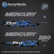 Mercury 2013 2012 250hp 250 hp optimax proxs pro xs direct injection blue theme