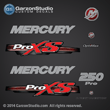 Mercury 2013 2012 250hp 250 hp optimax proxs pro xs direct injection red theme