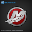 2013 Mercury M logo outboard decal 2012 red sticker