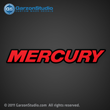 mercury decal red