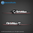 2007-2012-Optimax Globe Stripe decal set For Mercury 200hp, 225hp, 250hp and 300hp band