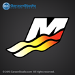 Mercury Racing M logo fading decal sticker Pro Max