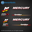 Mercury Racing 2006 2007 208 2009 2010 2011 2012 225 hp 225hp 225xs 225 xs Optimax 3.2 stroker decal set Mercury racing decals for your Optimax motor cowling 3.2 stroker direct injection Custom Built by Mercury Racing M logo decals kit sticker stickers