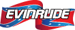 Evinrude Outboard Decal etec Confederate flag