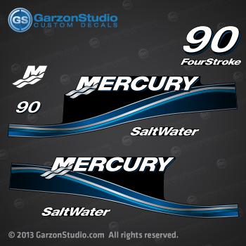 Mercury 90hp four stroke outboard decals//sticker kit